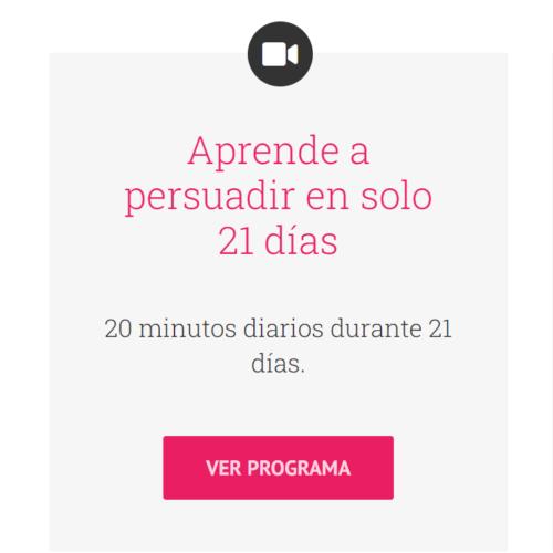 21 días para persuadir